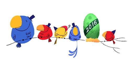 Doodle 2016 Bonne année